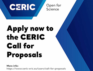 CERIC-ERIC call for proposals is open